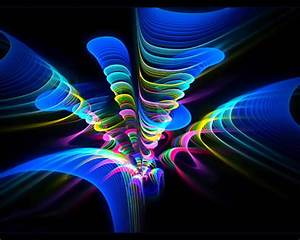 Fractal neon 3D and CG & Abstract Background Wallpapers