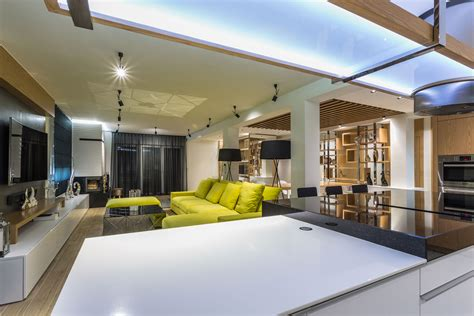 interior design open space awesome large open space in contemporary home poland loversiq
