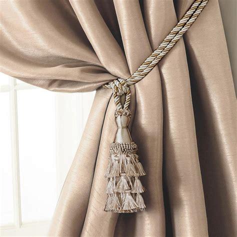 Drapery Tie Backs by Elrene 24 In Tassel Tieback Rope Cord Window