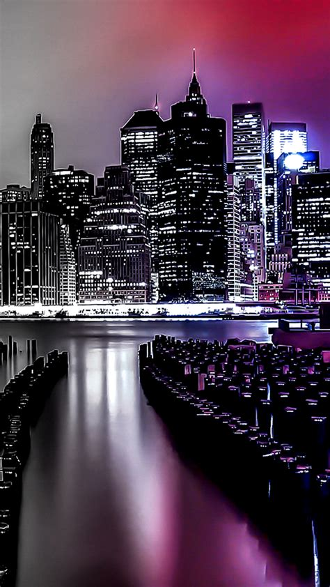 night city lights gradient light filter iphone wallpapers