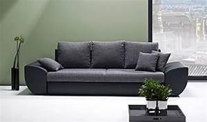 Big Sofa Mit Schlaffunktion Günstig : big sofa mit schlaffunktion und bettkasten in schwarz grau r ckenecht bezogen mit ~ Bigdaddyawards.com Haus und Dekorationen