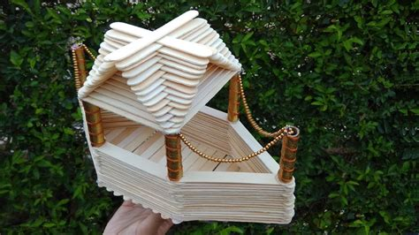 How To Make A Boat Using Craft Sticks by A Boat House Made From Popsicle Sticks How To Make Youtube