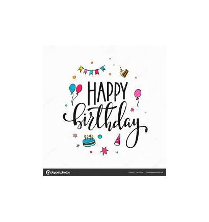 Birthday Lettering Happy Typography Calligraphy Typografie Geburtstag