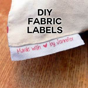 diy fabric labels on twill tape jennifer maker With fabric label maker