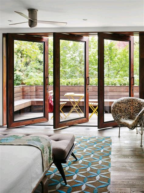 puertas de cristal  el area del jardin