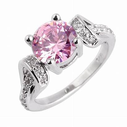 Cancer Ring Breast Awareness Topaz