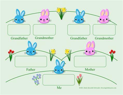 bunny family tree  printables growinglittleleaves