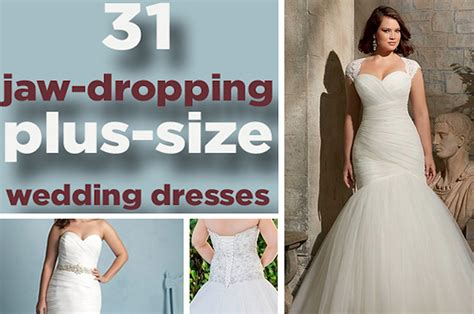 jaw dropping  size wedding dresses