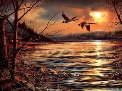 Painting Wallpapers Terry Redlin Nature Fantasy Hazy