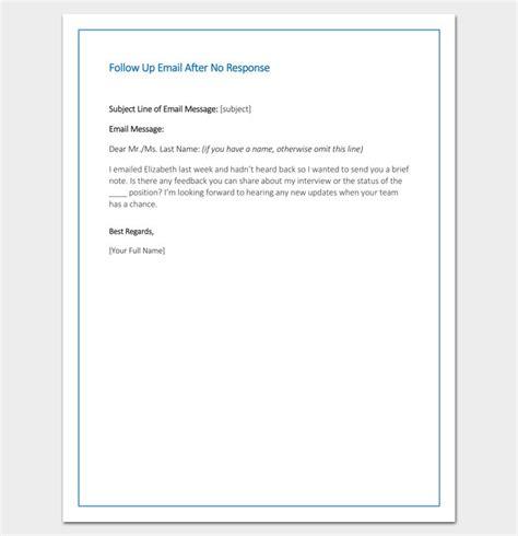 follow  email   response sample