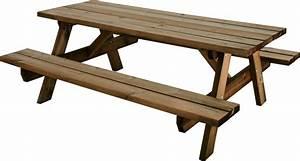 Table Jardin En Bois : table pique nique bois garden ~ Dode.kayakingforconservation.com Idées de Décoration