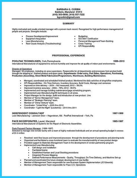 assembly line worker resume design resume template