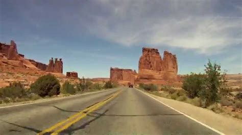 Arches National Park Entrance Road Gopro Real Time