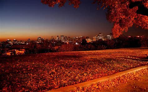 background city natural seasons autumn wallpaper