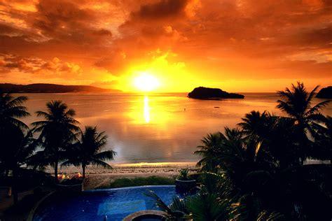 gambar pemandangan sunset harian nusantara