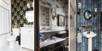 Powder Bathrooms Bathroom Wall Wallpapered Coverings Extraordinary