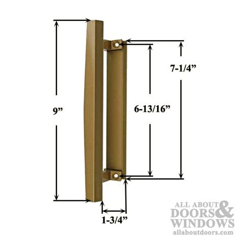 pella sliding door handle interior pull bronze