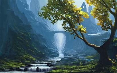Stream Wallpapers Mountain Paintings Painting Landscapes Abstract