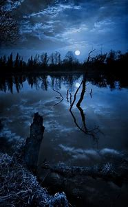 Beautiful Night Sky Moon