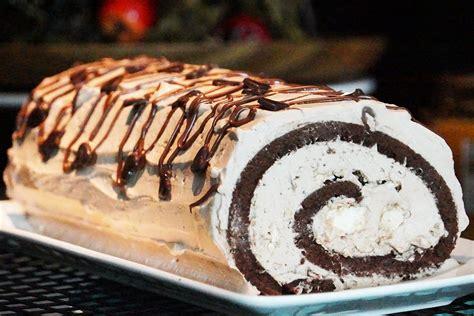 hervé cuisine buche de noel recette bûche de noël nutella chocolat et meringue