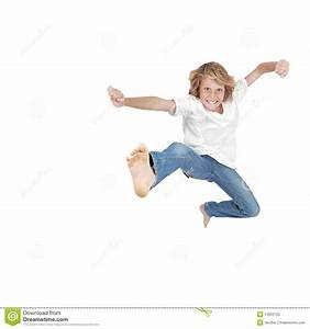 Hyperactive Child Jumping Stock Photo - Image: 13922150