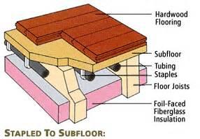 radiant heat wood floors wood flooring installing radiant heat hardwood floors