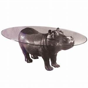 bespoke bronze sculpture mark stoddart hippo coffee table With hippo coffee table