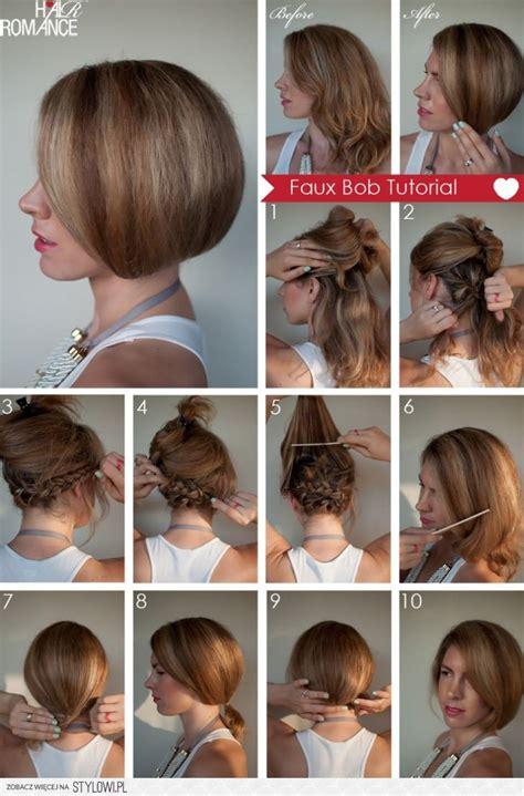 diy faux bob hairstyle    fashion tips