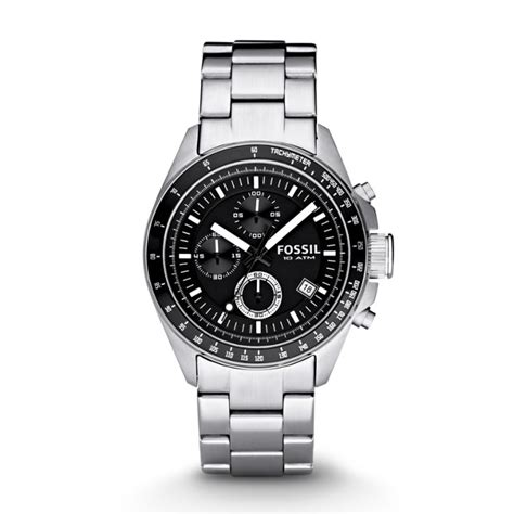 Decker Chronograph Stainless Steel Watch Fossil