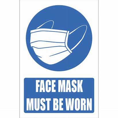 Mask Worn Face Should Explanatory Safety Signs