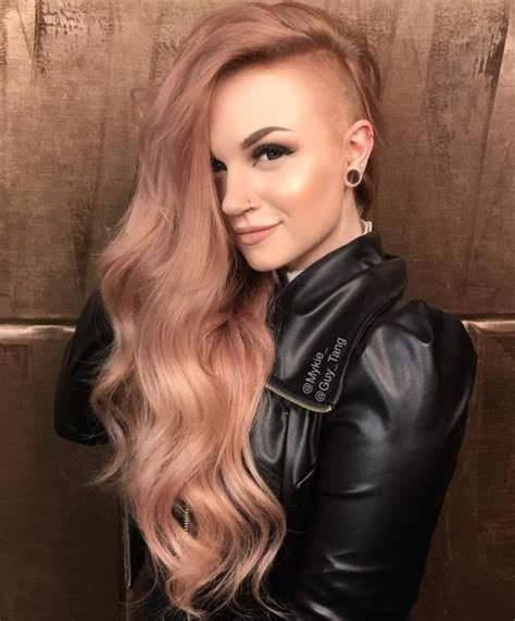 long hairstyles with shaved sides 20 cute shaved hairstyles for women