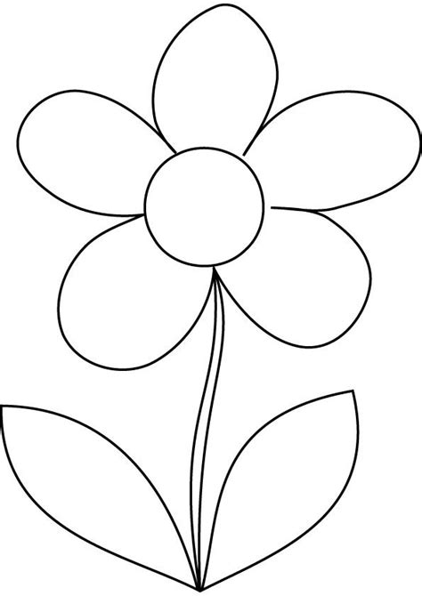 daisy coloring page printable flower coloring pages flower coloring pages
