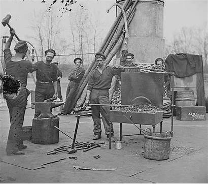 Navy Blacksmiths Civil War Union During Uss