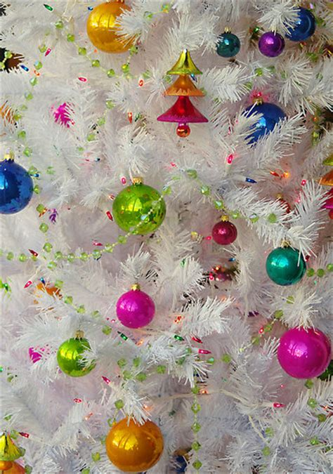 white christmas tree balls quot white christmas tree with ornaments and lights quot by john ayo redbubble