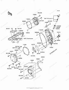 Kawasaki Motorcycle 2013 Oem Parts Diagram For Engine