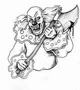 Scary Payasos Rajz Bohoc Rajzok Jester Terror Rampage Palhaço Koponya Vicces Palhaços Asesinos Coringa sketch template