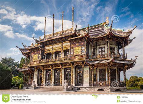 casa cinese costruzione di casa cinese a bruxelles belgio immagine