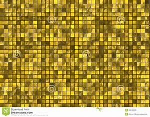 Many Small Gold Square Tile Mosaic. Pattern Texture Stock ...