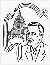 Presidents Coloring President Preschool Printable Getcolorings Sweet Getdrawings sketch template