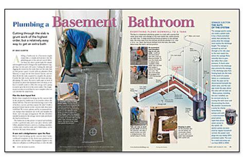 plumbing  basement bathroom fine homebuilding