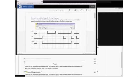 Introduction Timing Diagram For Plc Ladder Logic Youtube