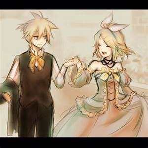 Len Kagamine (left) Servant of Evil and Rin Kagamine ...