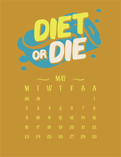 Typo Kalender 2016 by Free Vector Inspirational Typography Wall Calendar 2016