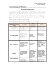 week 3 physical fitness worksheet muscle or group of