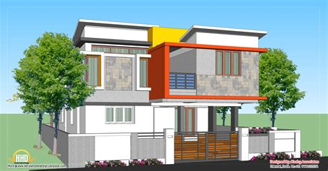 contemporary home design plans modern home design 1809 sq ft kerala home design and floor plans