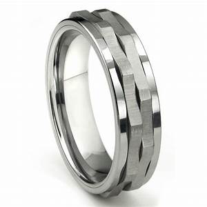 Ninja star tungsten carbide spinning wedding band ring for Tungsten carbide wedding ring