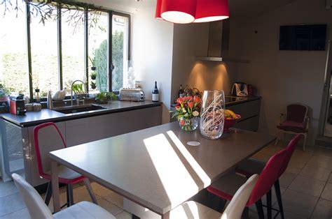 cuisine familiale agencement grande cuisine région lyonnaise vernaison