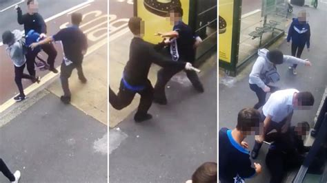 Watch Horrifying Moment Man Attacks Youngster With Metal
