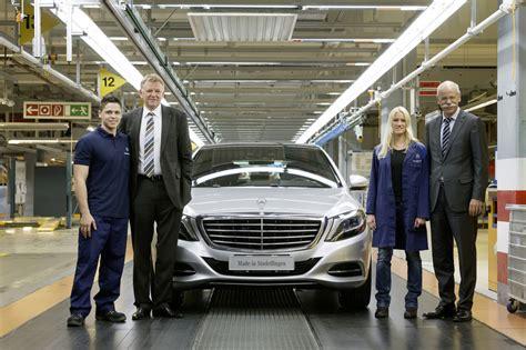 mercedes factory new s class production begins in sindelfingen germany