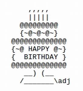 Happy Birthday ASCII Text Art | HubPages